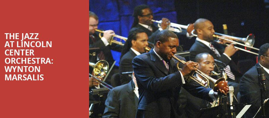The Jazz at Lincoln Center Orchestra Wynton Marsalis, Whitney Hall, Louisville